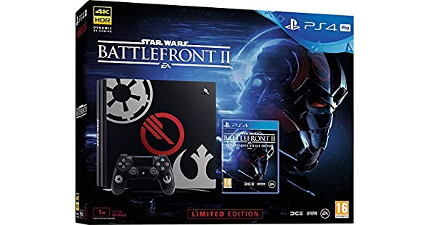 Sony PS4 Pro Limited Edition STAR WARS Battlefront II Bundle Negro 1000 GB Wifi - Videoconsolas (PlayStation 4 Pro, Negro, 8196 MB, GDDR5, GDDR3, AMD Jaguar): Amazon.es: Videojuegos
