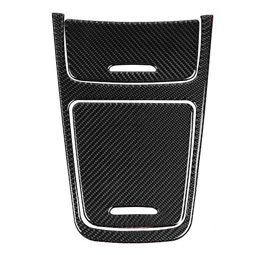 Central Control Panel Cover, Cuque Carbon Fiber Console Trim for MB Mercedes-Benz A Class 2013 2014 2015 2016 2017 2018 CLA 2013 2014 2015 2016 2017 2018 2019 GLA 2015 2016 2017 2018 Black ABS Plastic