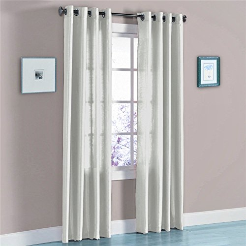 - Gorgeous Home (MIRA)2 PANELS SOLID GROMMET FAUX SILK WINDOW CURTAIN DRAPES TREATMENT IN 63