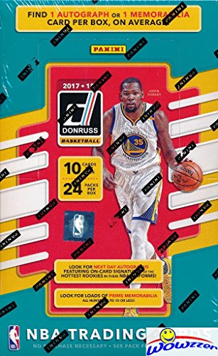 2017/18 Panini Donruss NBA Basketball ENORMOUS Factory Sealed HOBBY Box with TWO(2) AUTOGRAPH or MEMORABILIA & 240 Cards! Look for Rookies & Autographs of Jayson Tatum, Lonzo Ball & More! (Nba Hobby Box)
