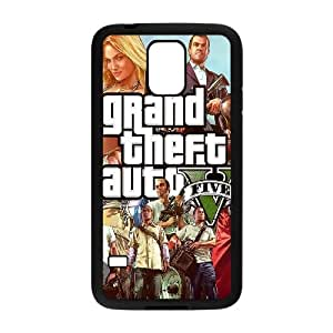 Samsung Galaxy S5 Cell Phone Case Black GTA 5 Characters GY9080959