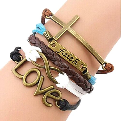 Susenstone%C2%AEHandmade Adjustable Multilayer Bracelet Wristband