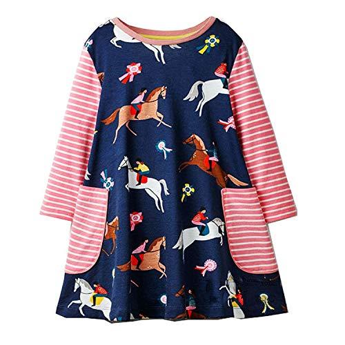 Party Girls Dress Children Winter Kids Dresses for Girls Clothes Animal Applique Baby Dress Princess Costume,88,4T -