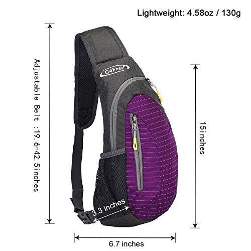 Purple Or Adults For Crossbody Multipurpose Shoulder Small Triangle Lightweight Cute Chest Daypacks Rucksack Backpacks Sling Children G4free Pack Bags ZwU1Cq4a6x