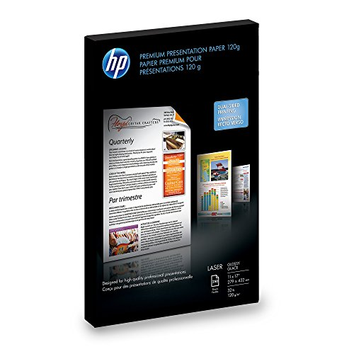 HP Color Laser Presentation Paper, Glossy (250 Sheets, 11 x 17 Inches)