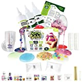 Incredible Slime Party Supplies Kit for 10 Girls and Boys: Make Slimes Stuff Jelly Cube, Glow in The Dark, Water Beads, Crunchy, Unicorn Slimes. Kit Includes 10 Storage and Over 100 Pieces