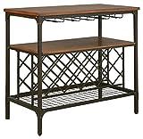 Ashley Furniture Signature Design – Rolena Dining Room Server – Includes Wine Bottle Rack & Hangers – Brown For Sale