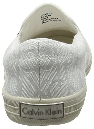 Calvin Klein Jeans Orville Ck Logo Jacquard/Grosg - Pantuflas Hombre Blanco (Wht)