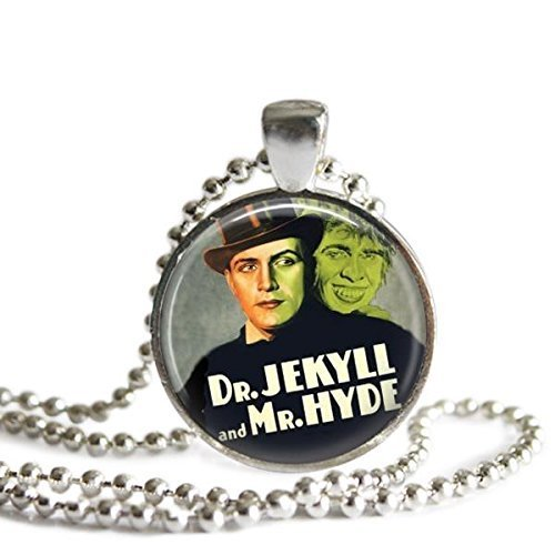 Dr. Jekyll and Mr. Hyde Necklace Vintage Horror Movie Poster