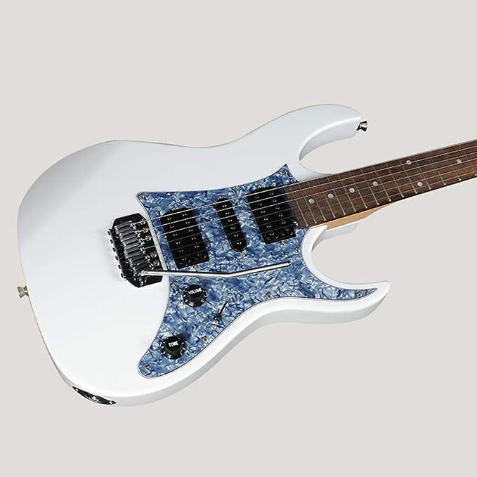 ... GRX150 Juego de guitarra eléctrica Práctica para principiantes Guitarra eléctrica de rendimiento profesional Adecuado para Rock Roll Blues Heavy Metal ...