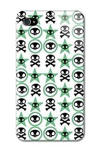 Case Fun Apple iPhone 4 / 4S Case - Vogue Version - 3D Full Wrap - Green Skulls