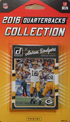 2016 Donruss NFL Football Quarterbacks Collection Special Edition Factory Sealed 10 Card QB Set Including Tom Brady, Russell Wilson, Aaron Rodgers, Cam Newton and Others