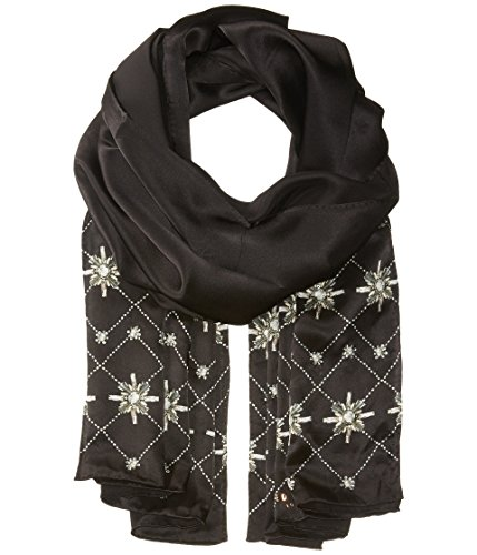 Ted Baker London Women's Embellished Hot Fix Long Scarf, Black, One Size by Ted Baker