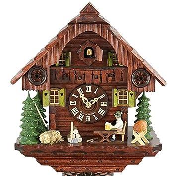 Casa de la 1000 Relojes Cuco Reloj - Negro Bosque Casa Cerveza Bebedores: Amazon.es: Juguetes y juegos