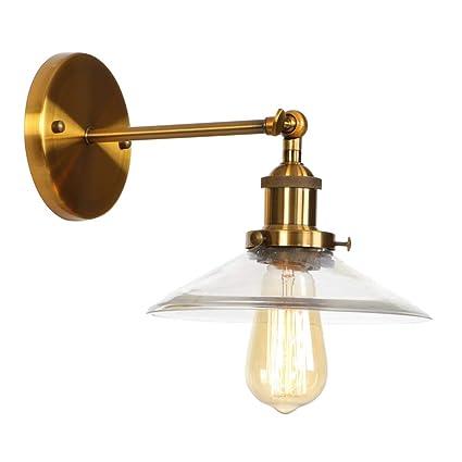 Amazon.com: Lámpara de pared estilo americano retro simple ...