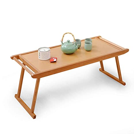 Gwfva Bamboo Folding Table Simple Modern Antique Coffee