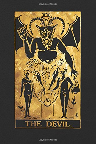 Download The Devil: 120 blank pages, The Devil Tarot Card Notebook - Black and Gold - Sketchbook, Journal, Diary (Tarot Card Notebooks) pdf