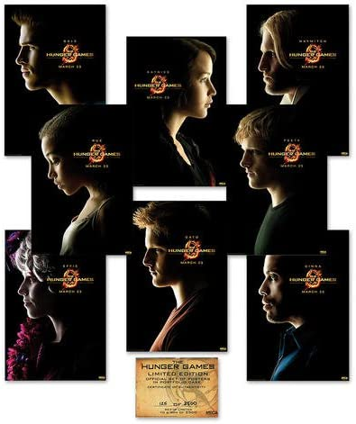 Pack 8 Póster The Hunger Games (Los Juegos del Hambre): Amazon.es ...