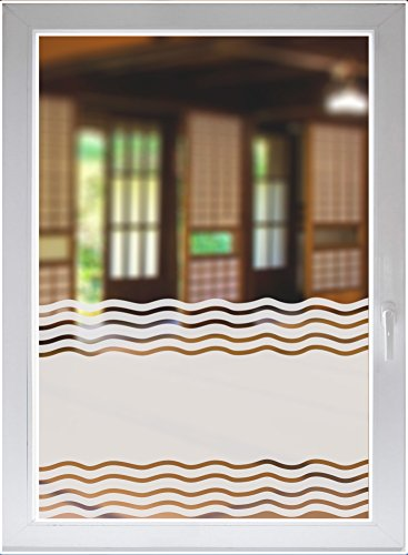 INDIGOS UG - Glass decoration film window film privacy film sunscreen burnished strips opaque - 1200mm long x 500mm high ()
