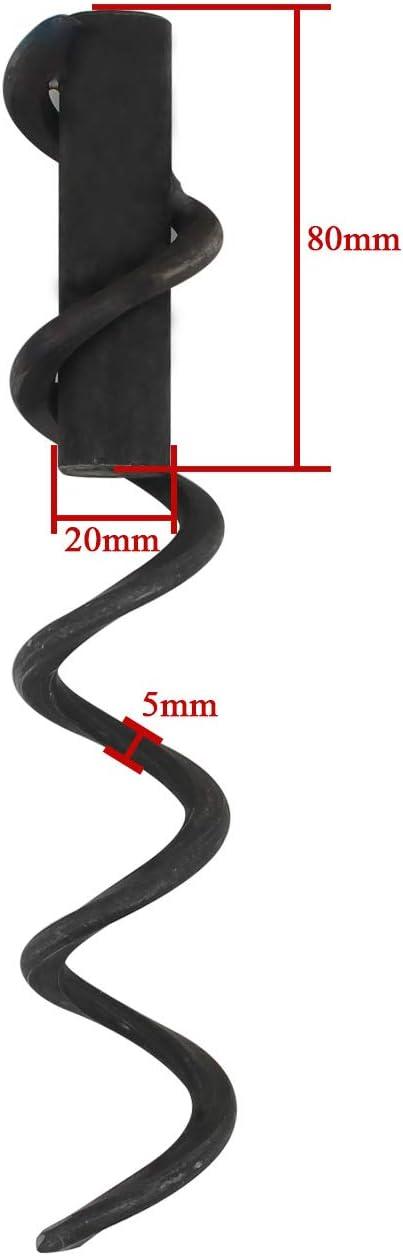 Gesamtl/änge 200mm Transportschnecke f/örderspirale pellet 200 300 400 500 600mm Pelletf/örderschnecke f/örderschnecke pelletofen schnecken