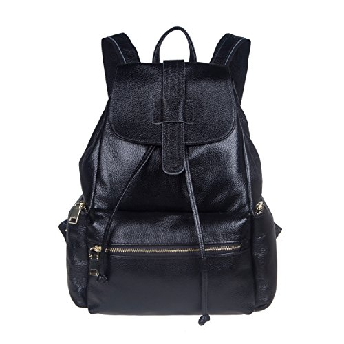 S-ZONE Casual Women Real Genuine Leather Backpack Fashion Bag Daypack