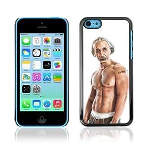 YOYOSHOP [Funny Einstein Bodybuilder] Apple iPhone 5C Case