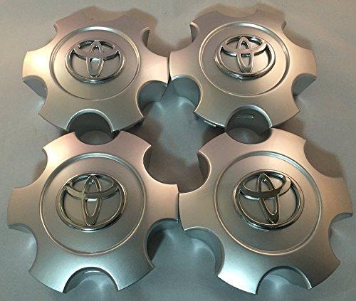 2003-2006 Toyota Tundra 03-07 Sequoia Wheel Center Caps Hubcaps Set 69940 Silver (Cap Wheel Plastic Center)