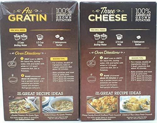 Variety Pack - Betty Crocker Potato Sides (4.7 Oz) - Au Gratin, Three Cheese