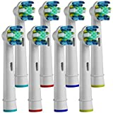 Replacement Toothbrush Heads Compatible With Braun Oral-B Floss Action Electric Toothbrush (25N-8)