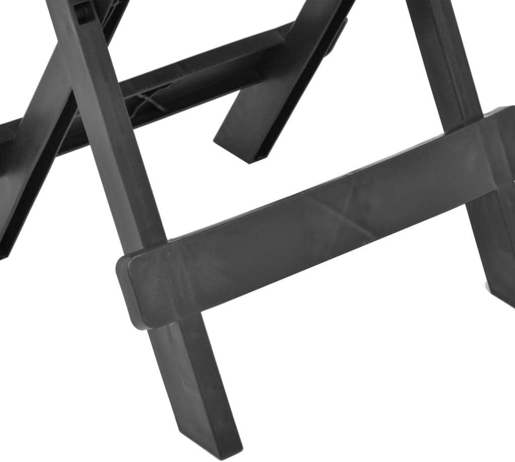 SKM Tavolo da Giardino Pieghevole Antracite 45x43x50 cm in Plastica