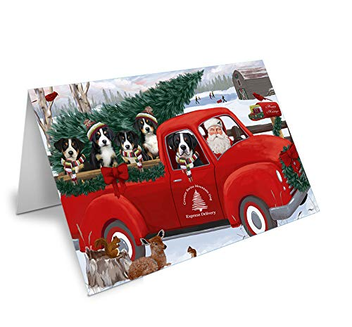 Christmas Santa Express Delivery Greater Swiss Mountain Dogs Family Greeting Card GCD68954 (20)