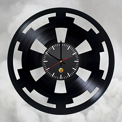 DARK SIDE IMPERIAL SYMBOL Vinyl Record Wall Clock - Get unique of home room wall decor - Gift ideas for boys and men – Unique Star Wars Art Design