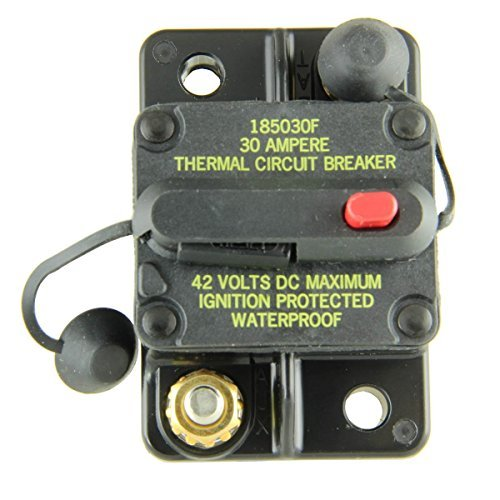 Bussmann CB185-30 Waterproof High Amp Flush Mount Type III (3) Circuit Breaker (30 Amp), 1 Pack