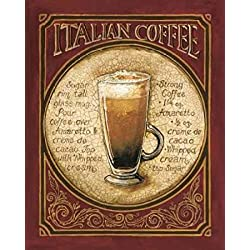Italian Coffee Poster Print by Gregory Gorham (20 x 24)