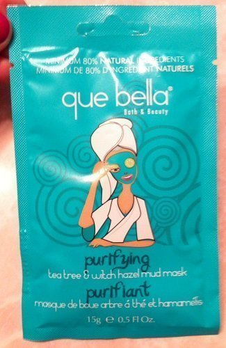 Que Bella Travel Size Purifying Tea Tree & Witch Hazel Mud Mask 0.5 fl. oz.