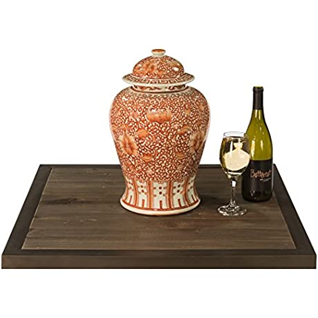 Sarreid 30860 Lotus Temple Jar Coral Twisted Large