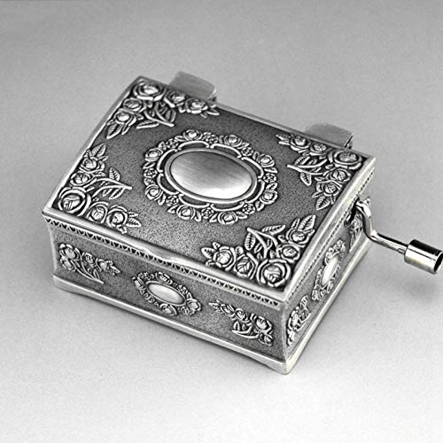 SHANYYH Music Box Pirate Treasure Chest Beaded Hand Princess Jewelry Metal Music Music Box Jewelry Box Birthday Girl Gift Dear