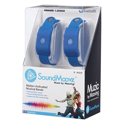 chollos oferta descuentos barato Soundmoovz 41239 SoundMoovz Set de 2 pulseras Muzic By Mooving para crear y componer sonidos y música color azul 11 5 x 6 8 x 18 1 Fábrica de Juguetes 41239