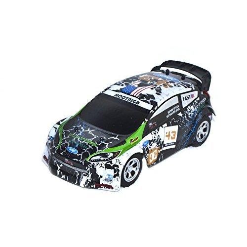 ALEKO RCC66A989BLACK 2.4G Rally Car (1:24 Scale) (Cars Slot Rally)