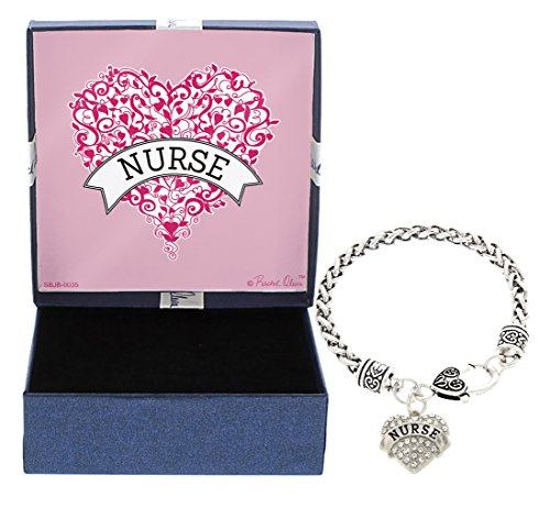 Mother's Day Gift Idea for Nurse Gifts Nurse Heart Jewelry Bracelet Silver-Tone Charm Bracelet Gift for Nurse Christmas Gift for Nurse Gift for Mom Nurse Practitioner Gifts Nursing School Gifts