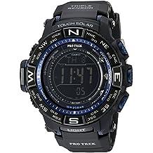 Casio Men's PRW-3500Y-1CR Pro Trek Quartz Solar Atomic Digital Display Black Watch