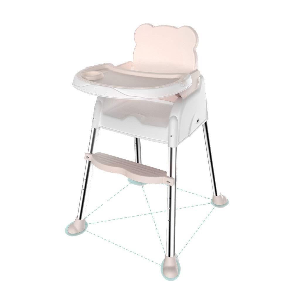 子供用テーブルと椅子 子供のシンプルなダイニングテーブルと椅子多機能ハイチェアベビーポータブル折りたたみ調節可能なコンパクトフィーディングコンフォートシート 多機能子供用ハイチェア (色 : ピンク, サイズ : 56*81*102cm) 56*81*102cm ピンク B07TCZ83M4