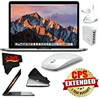 6Ave Apple 13.3 MacBook Pro (Space Gray) 512GB SSD + Padded Case For Macbook + 7 Port USB Hub (White) + iHip IP-IV-WH Fiber Cord Headphone with In-Line Microphone Bundle