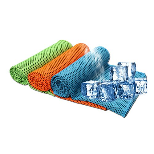 SHISHUO Cooling Towel - 3 Pack 85 x 30 cm Ice Cold Instant Relief Quick Dry...