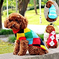 Alexsix Fashion Pet Dog Clothes Autumn Winter Warm Sweater for Small Dogs Chihuahua Pet Supplies