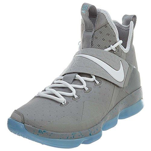 premium selection 0308c f4164 Galleon - NIKE Lebron XIV Mens Basketball-Shoes (10 D(M) US, Matte  Silver White-Glow)