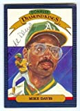 Mike Davis autographed baseball card (Oakland Athletics) 1986 Donruss No.14 PEN