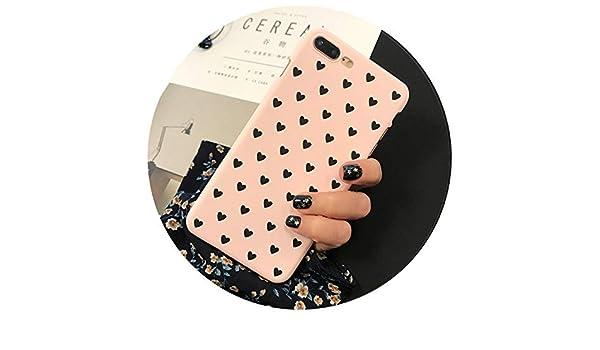 Amazon.com: Cute Pink Black Love Lovers PC Hard Plastic ...