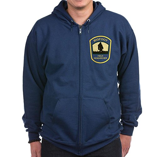 CafePress - Bigfoot Field Researcher Zip Hoodie (Dark) - Zip Hoodie, Classic Hooded Sweatshirt with Metal Zipper Navy