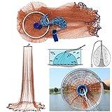 QOJA 2.4m usa style brown fishing net bait casting strong nylon